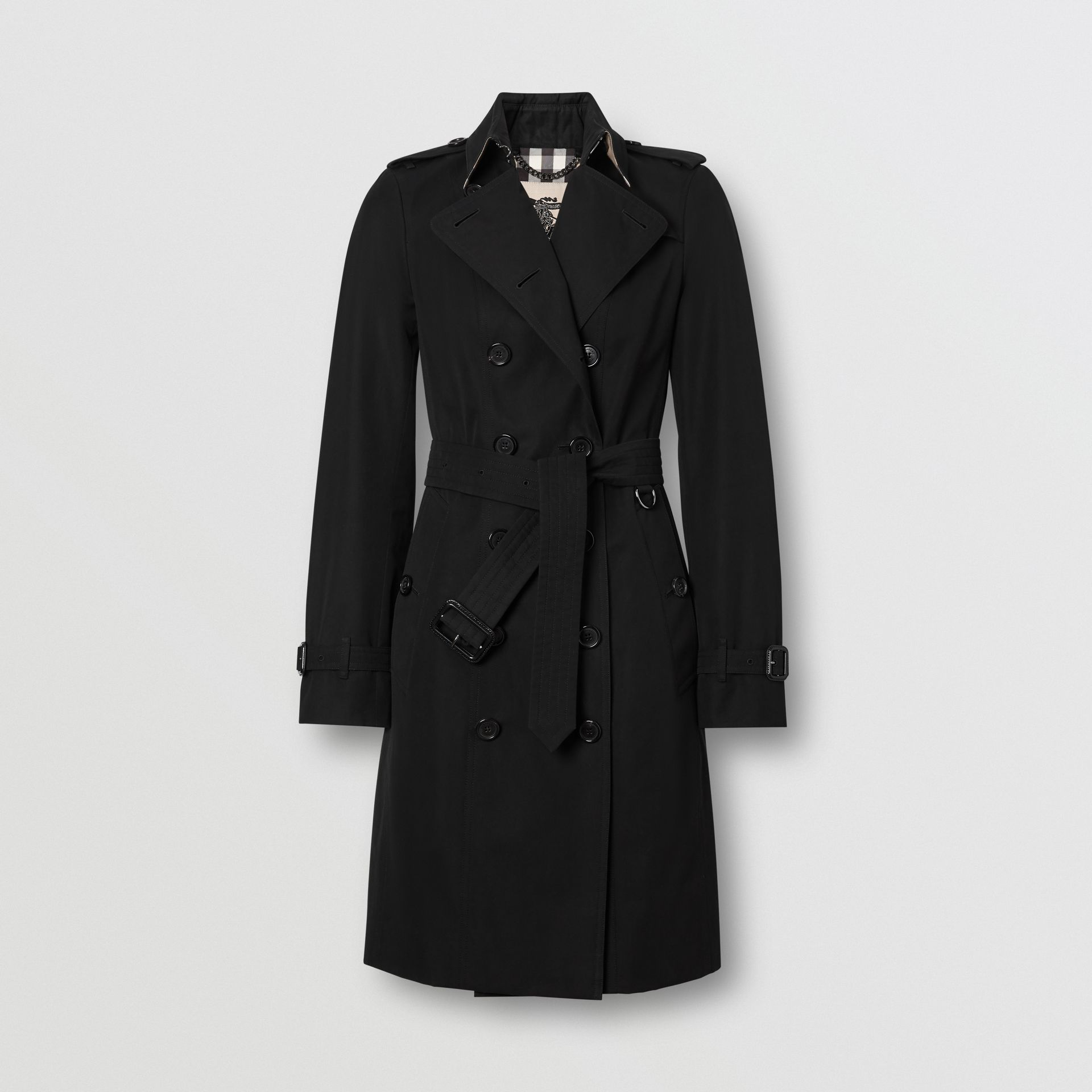 The Sandringham – Long Trench Coat in Black - Women | Burberry Singapore - gallery image 3