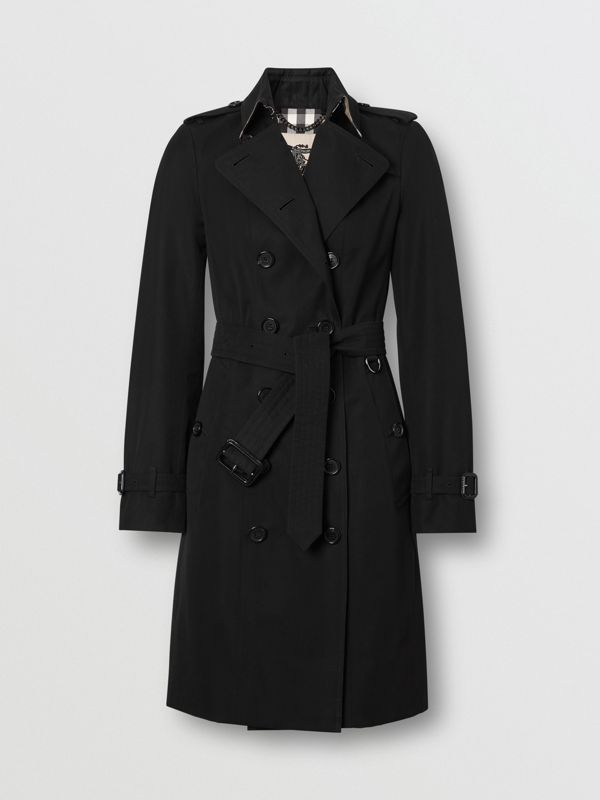 The Sandringham – Long Trench Coat in Black - Women | Burberry Singapore - cell image 3