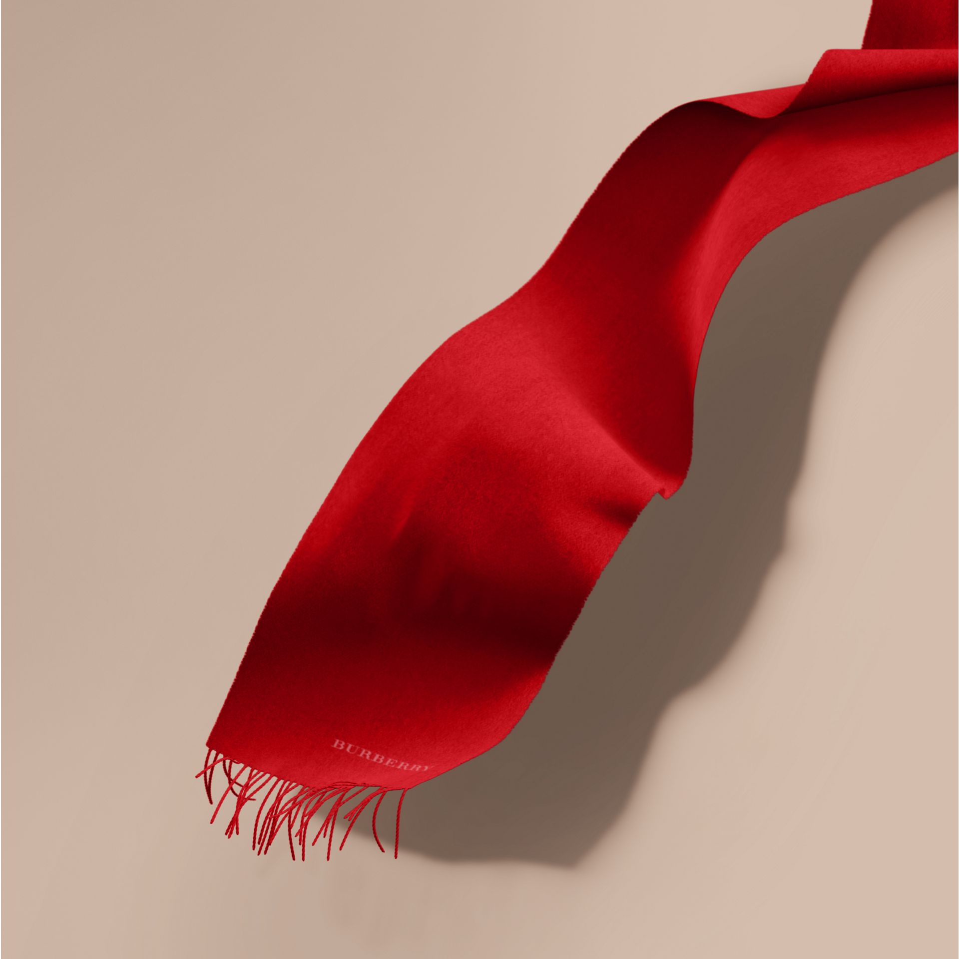 The Classic Cashmere Scarf in Parade Red | Burberry - gallery image 1