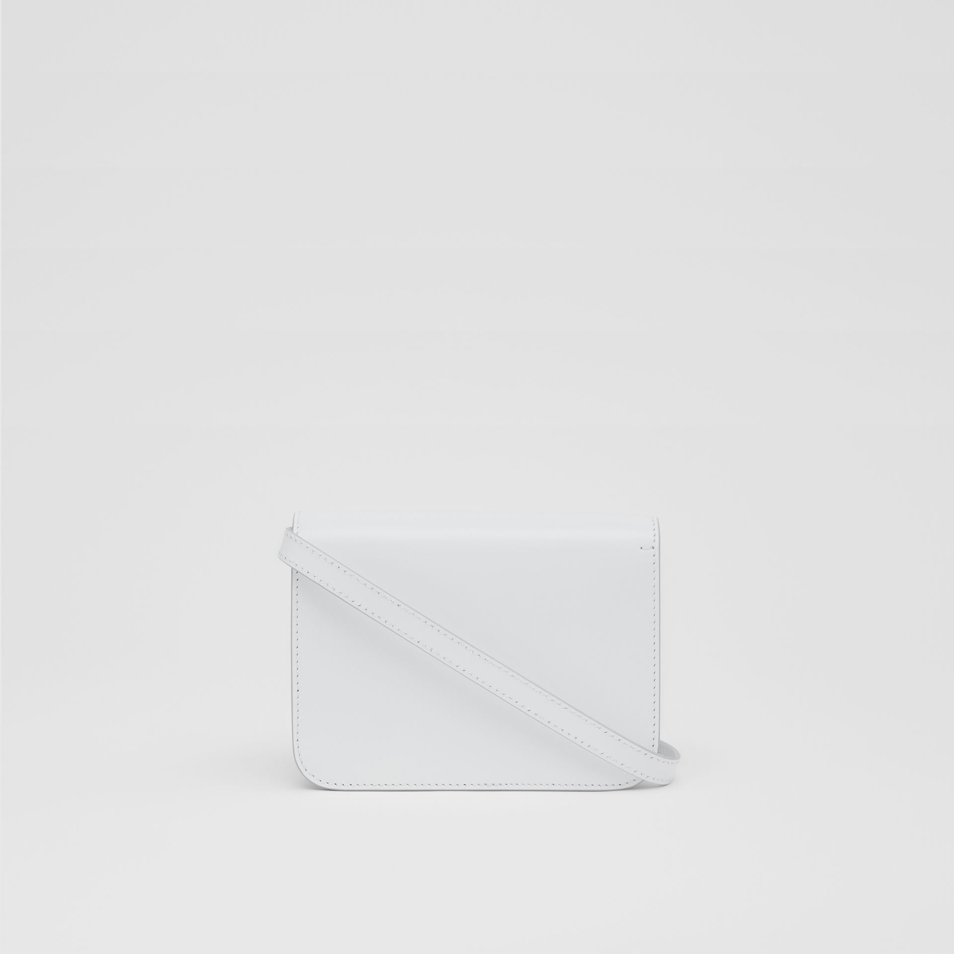 Mini Leather TB Bag in Optic White - Women | Burberry - gallery image 5