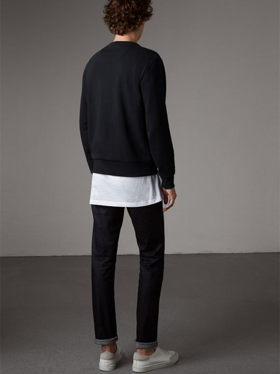 Beasts Motif Cotton Sweatshirt - Men | Burberry Australia - cell image 2