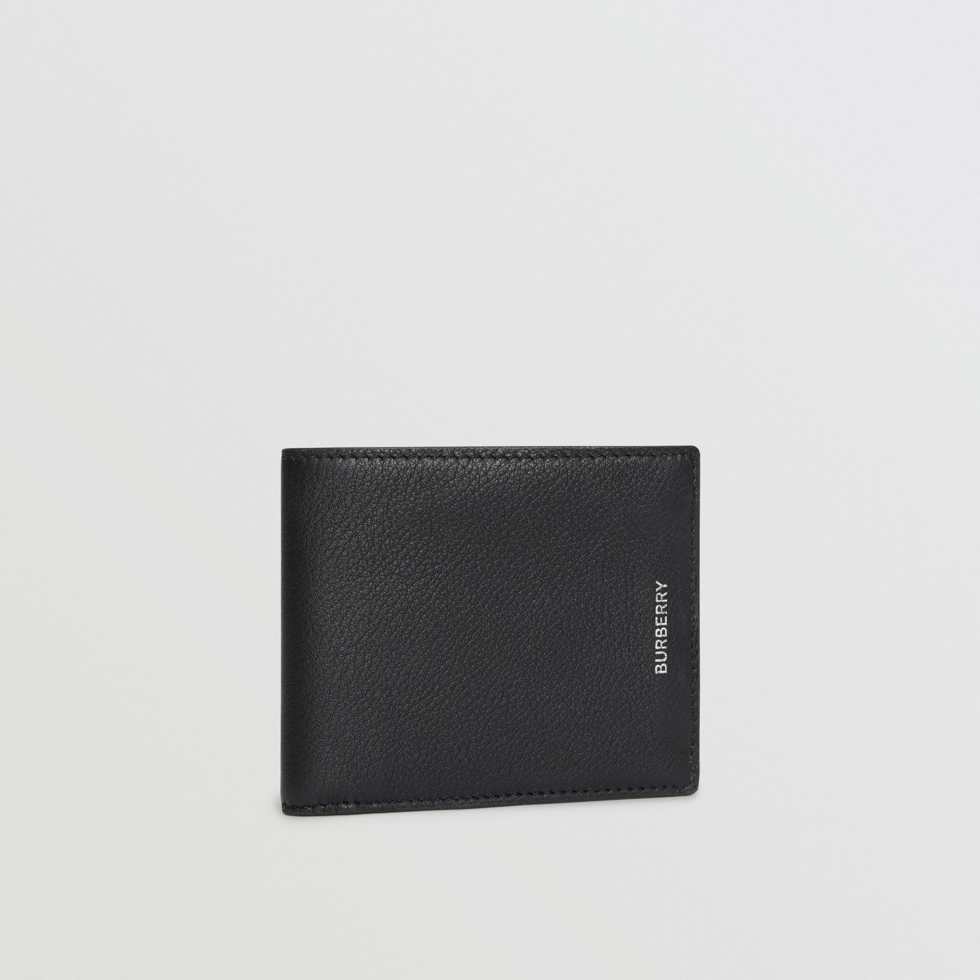 Grainy Leather International Bifold Wallet in Black | Burberry - gallery image 3