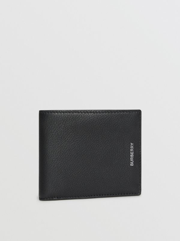 Grainy Leather International Bifold Wallet in Black - Men | Burberry United Kingdom - cell image 3