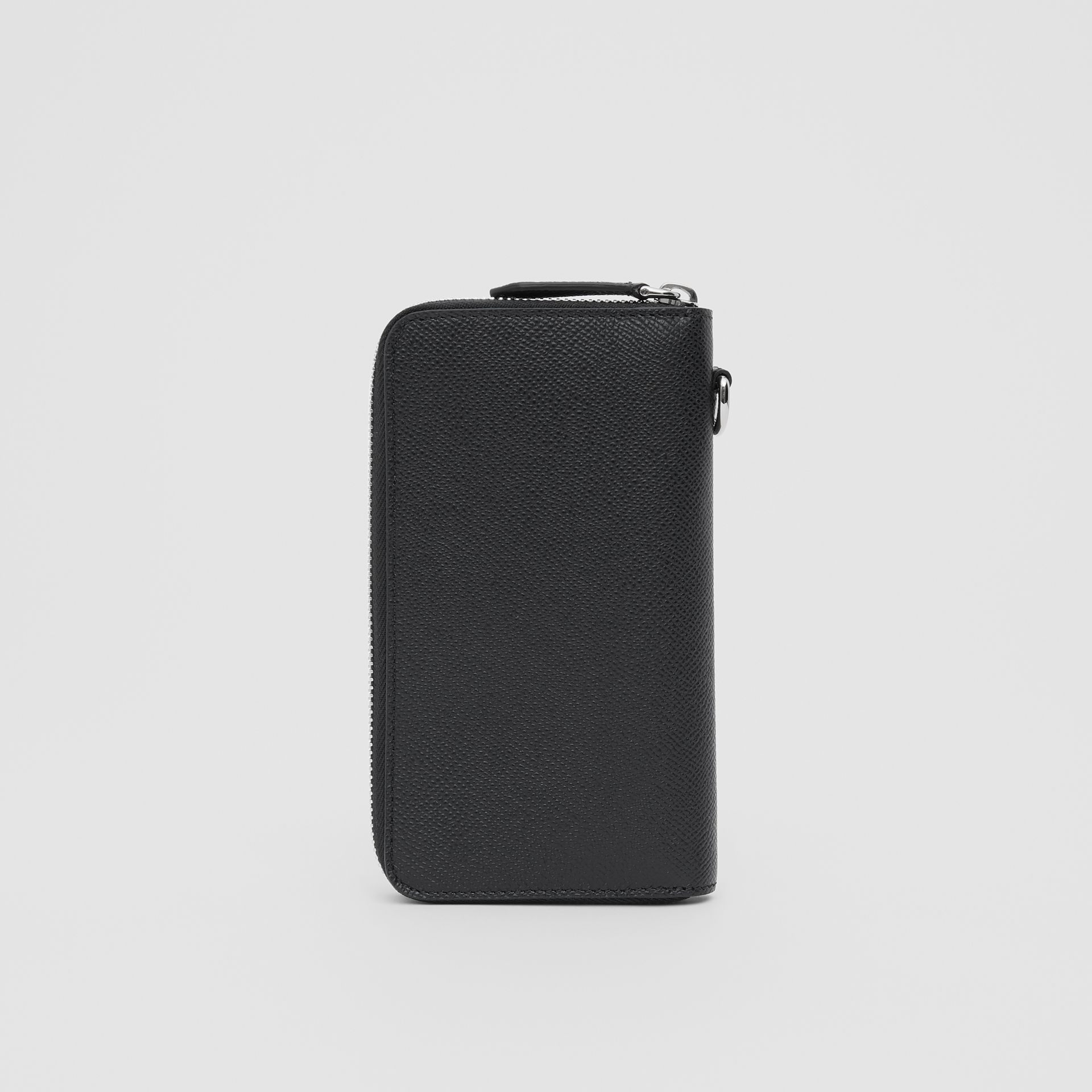 Grainy Leather Phone Wallet in Black - Men | Burberry United Kingdom - gallery image 4