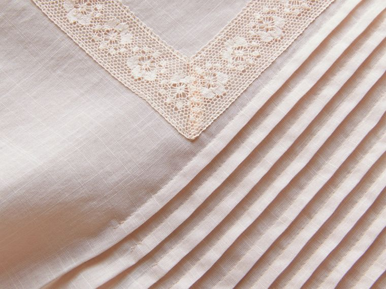 Pintuck and Lace Detail Cotton Dress in Chalk Pink - Women | Burberry Hong Kong - cell image 1
