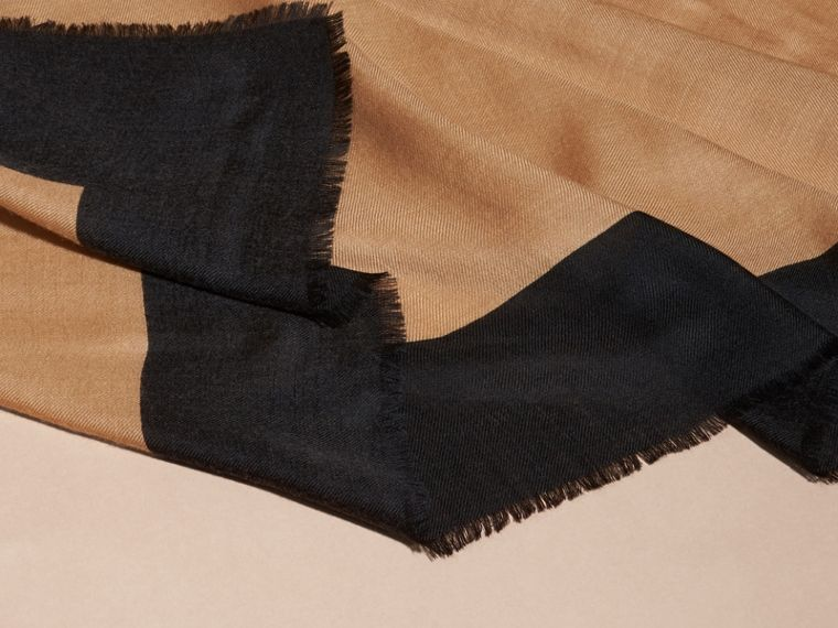 Camel/black Burberry Print Cashmere Scarf - cell image 1