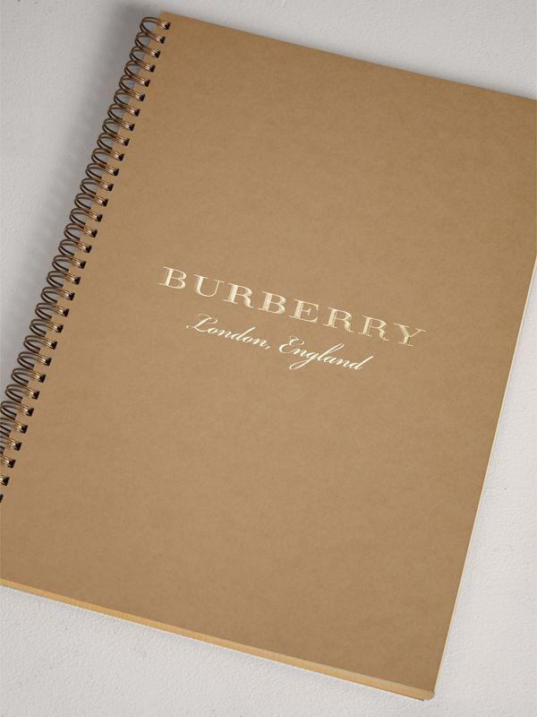 A4 Notebook Refill in Honey | Burberry Australia - cell image 2