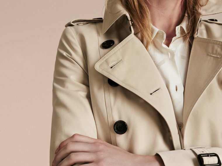 Stone The Chelsea – Extra-long Heritage Trench Coat Stone - cell image 4