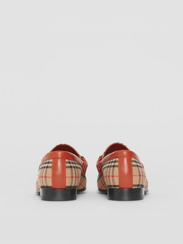The 1983 Check Link Loafer in Brick Red - Women | Burberry Hong Kong - cell image 3