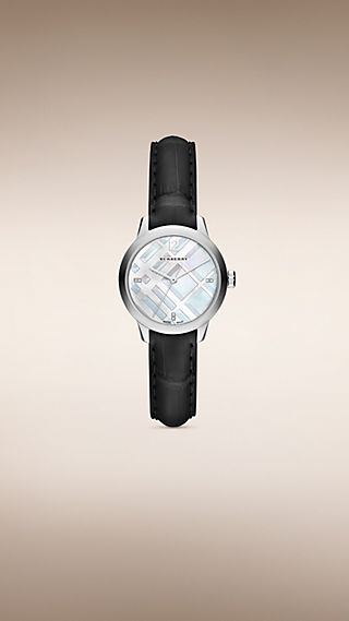 THE CLASSIC ROUND BU10106 32 MM AVEC INDEX SERTIS DE DIAMANTS