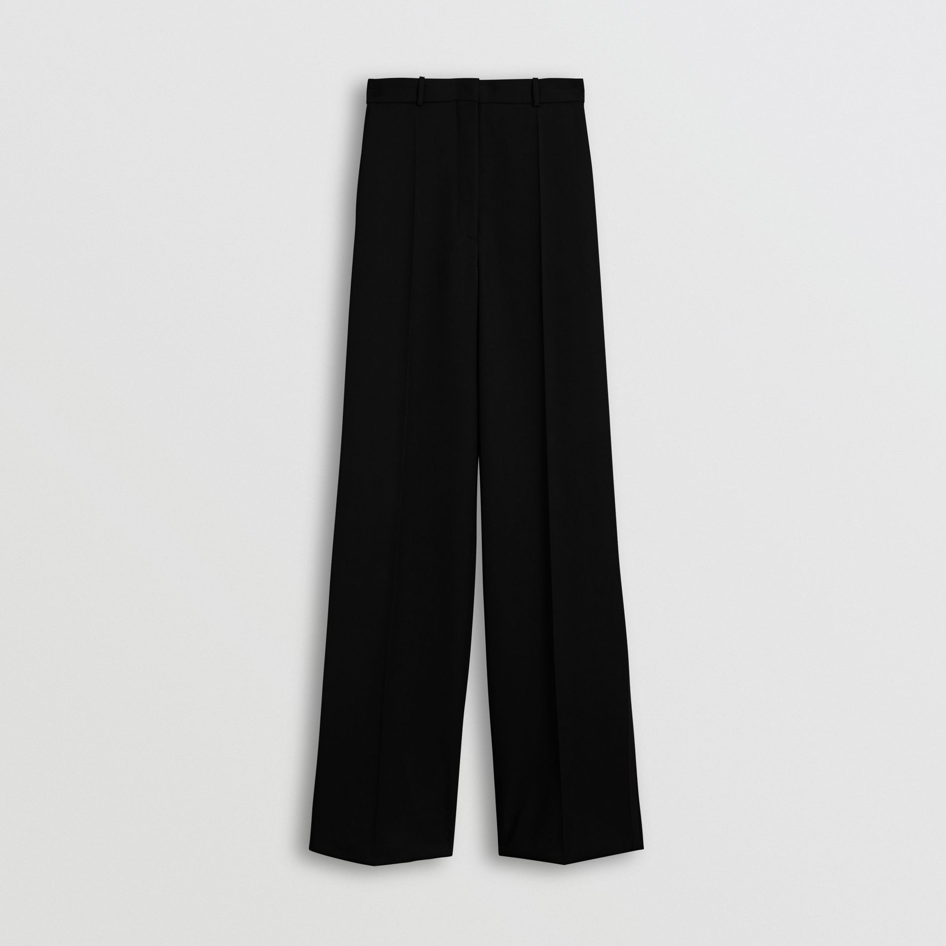 Wool High-waisted Trousers in Black - Women | Burberry - gallery image 3