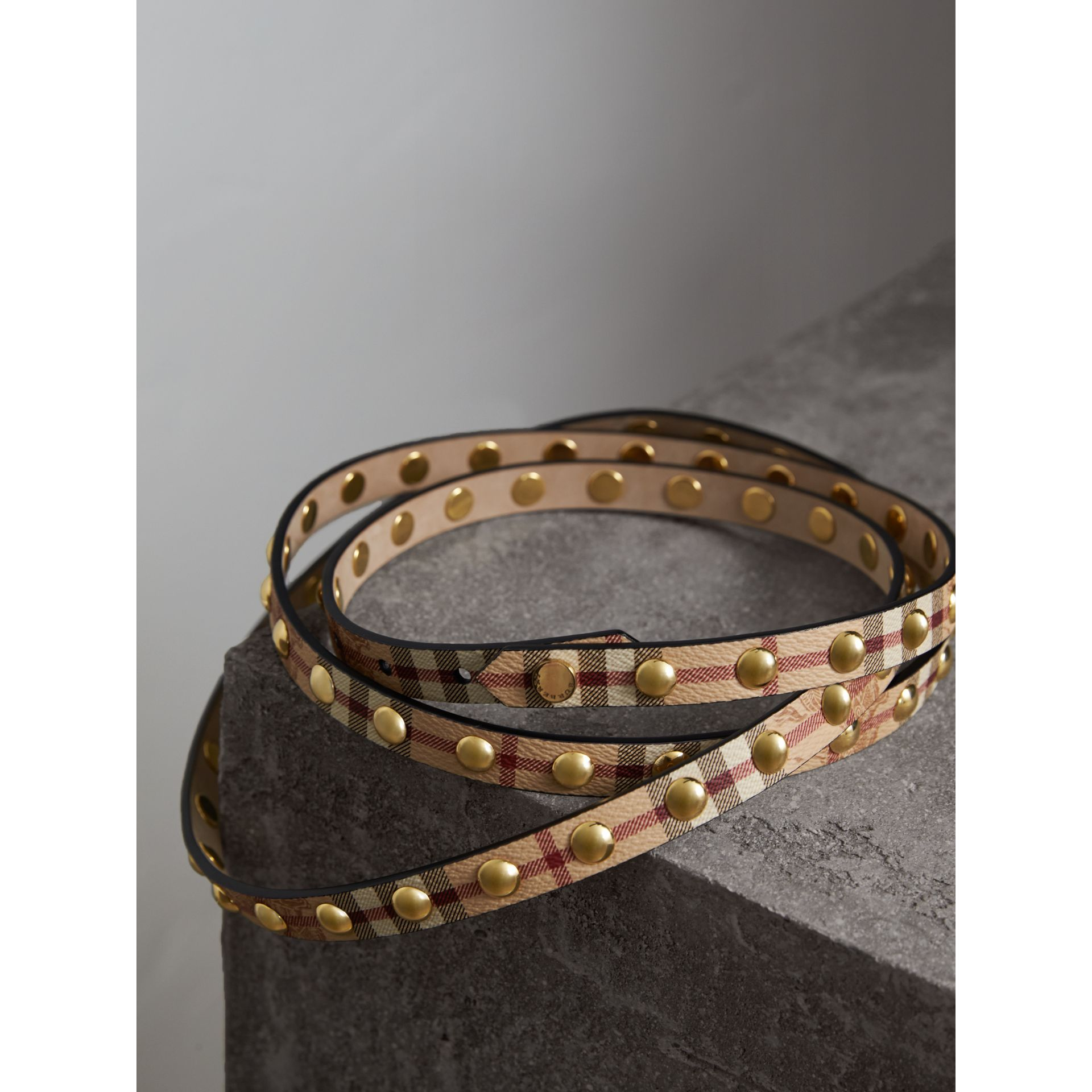 Studded Haymarket Check Double-wrap Belt - gallery image 4