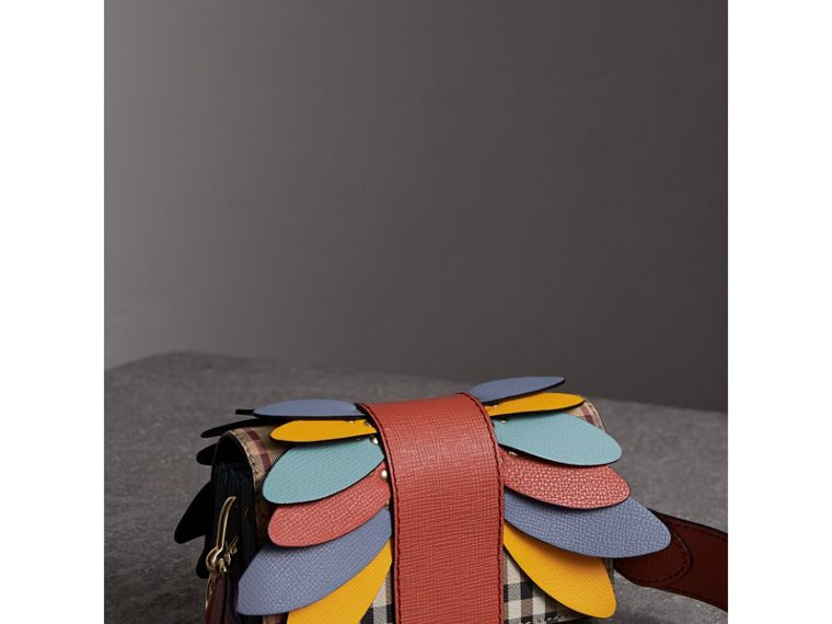 The Small Buckle Bag in Haymarket Check and Leather in Cinnamon Red - Women | Burberry Canada - cell image 4