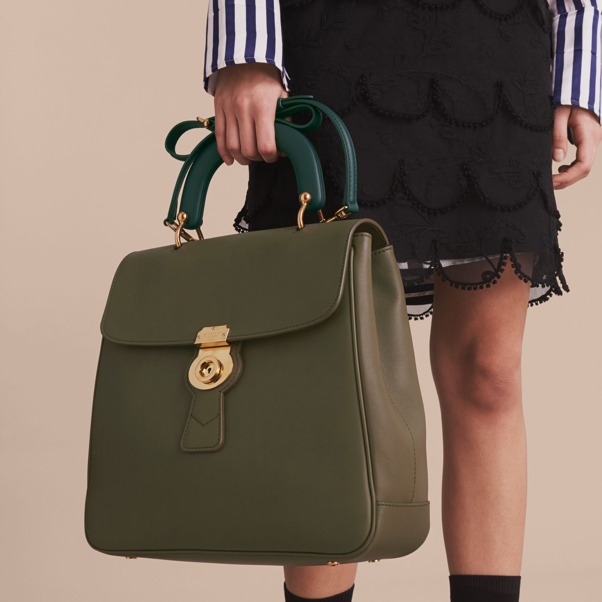 The Large DK88 Top Handle Bag in Moss Green - Women | Burberry - gallery image 7