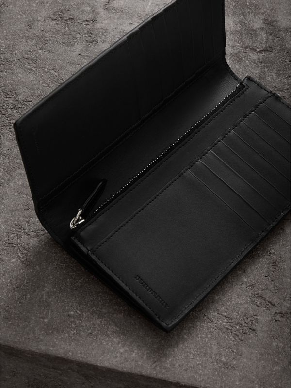 London Leather Continental Wallet in Black | Burberry Singapore - cell image 3