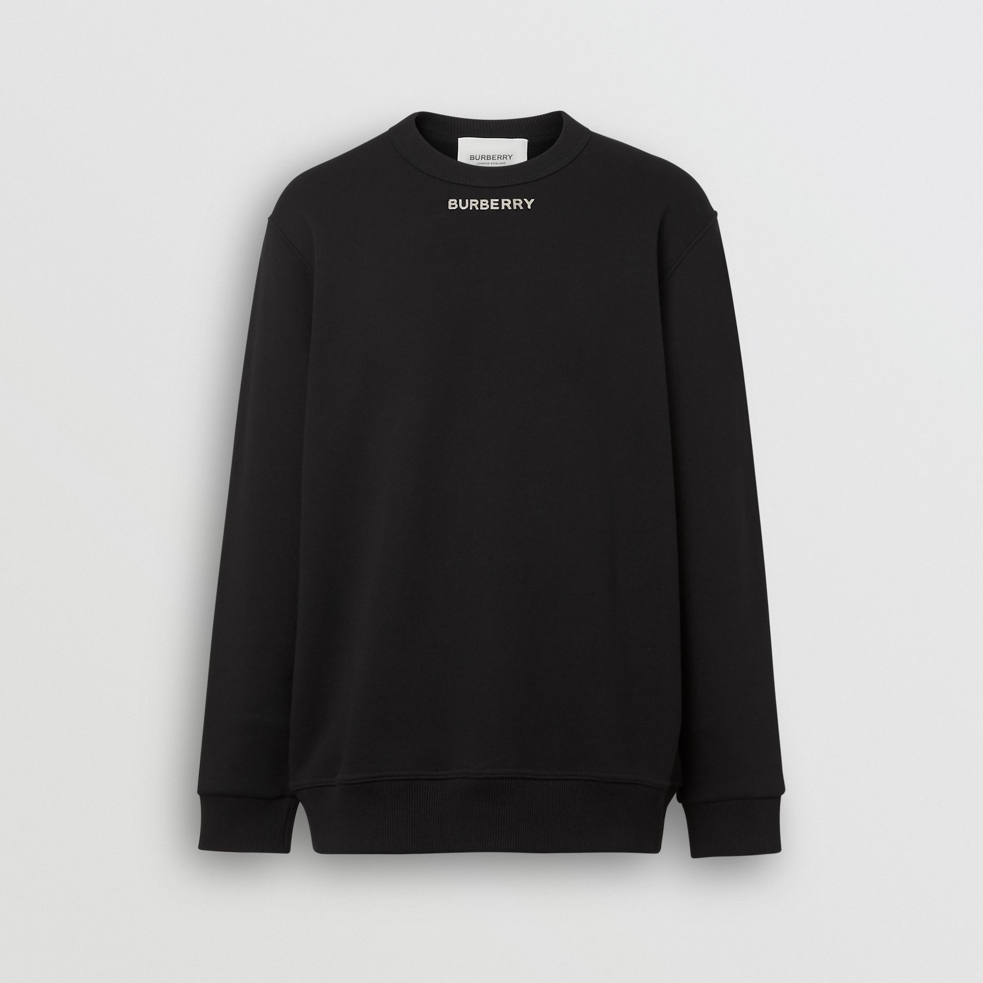 Sweat-shirt avec logo en métal (Noir) - Homme | Burberry - photo de la galerie 2