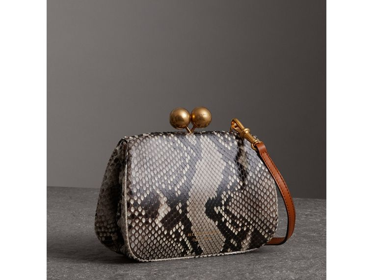 Small Python Frame Bag in Natural - Women | Burberry Singapore - cell image 4