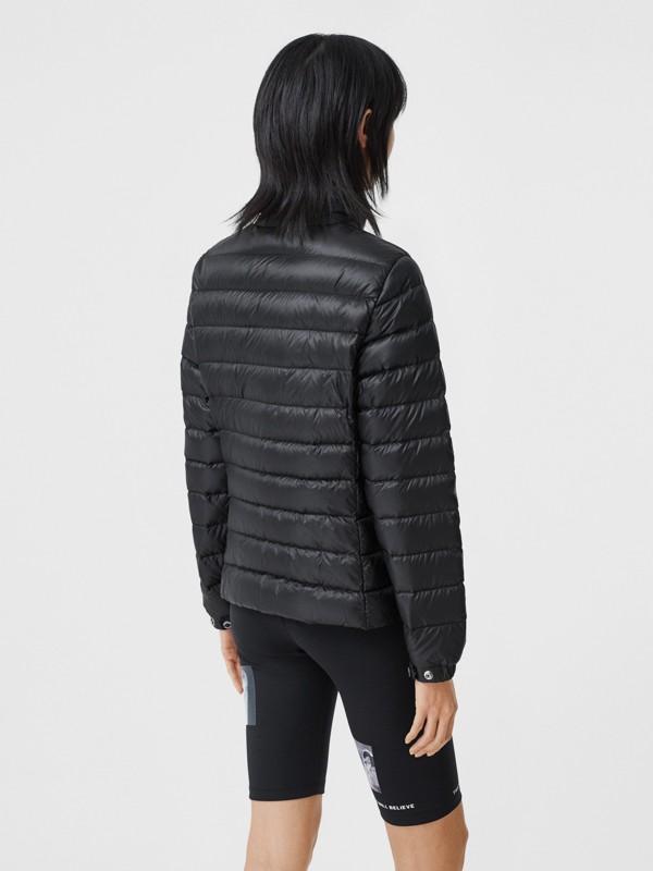 Logo Print Lightweight Puffer Jacket in Black - Women | Burberry Hong Kong S.A.R - cell image 2