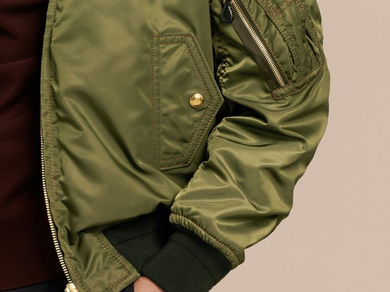 Light military green Oversize Bomber Jacket - cell image 4