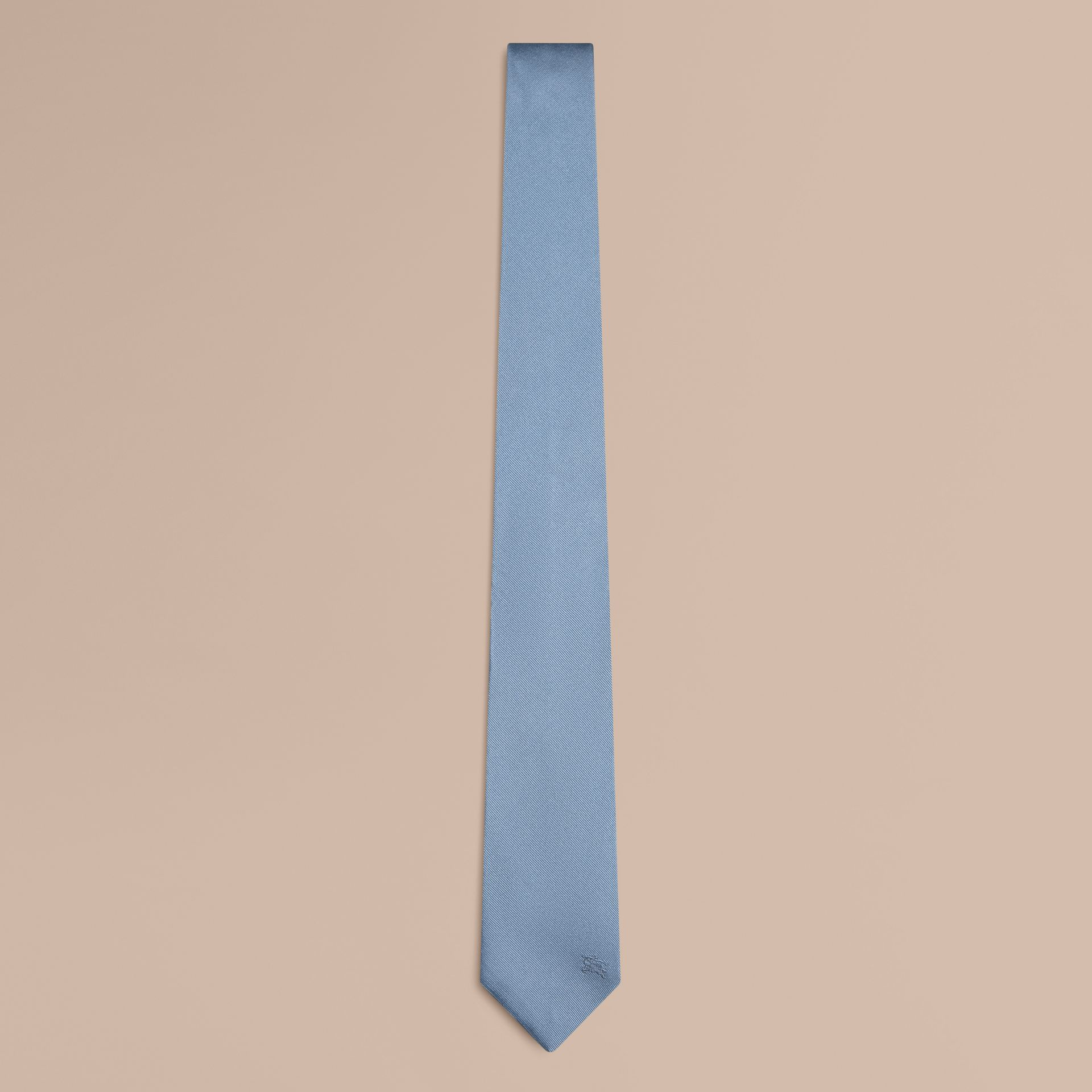 Sky blue Slim Cut Silk Twill Tie Sky Blue - gallery image 1
