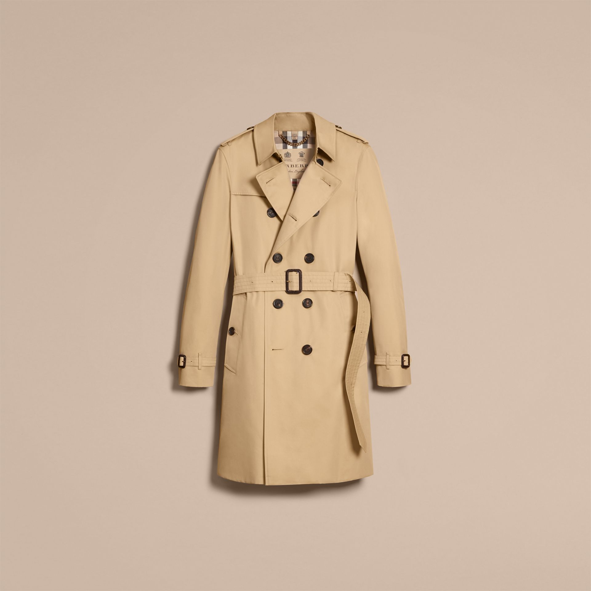 Miel Trench-coat Heritage long The Chelsea Miel - photo de la galerie 4