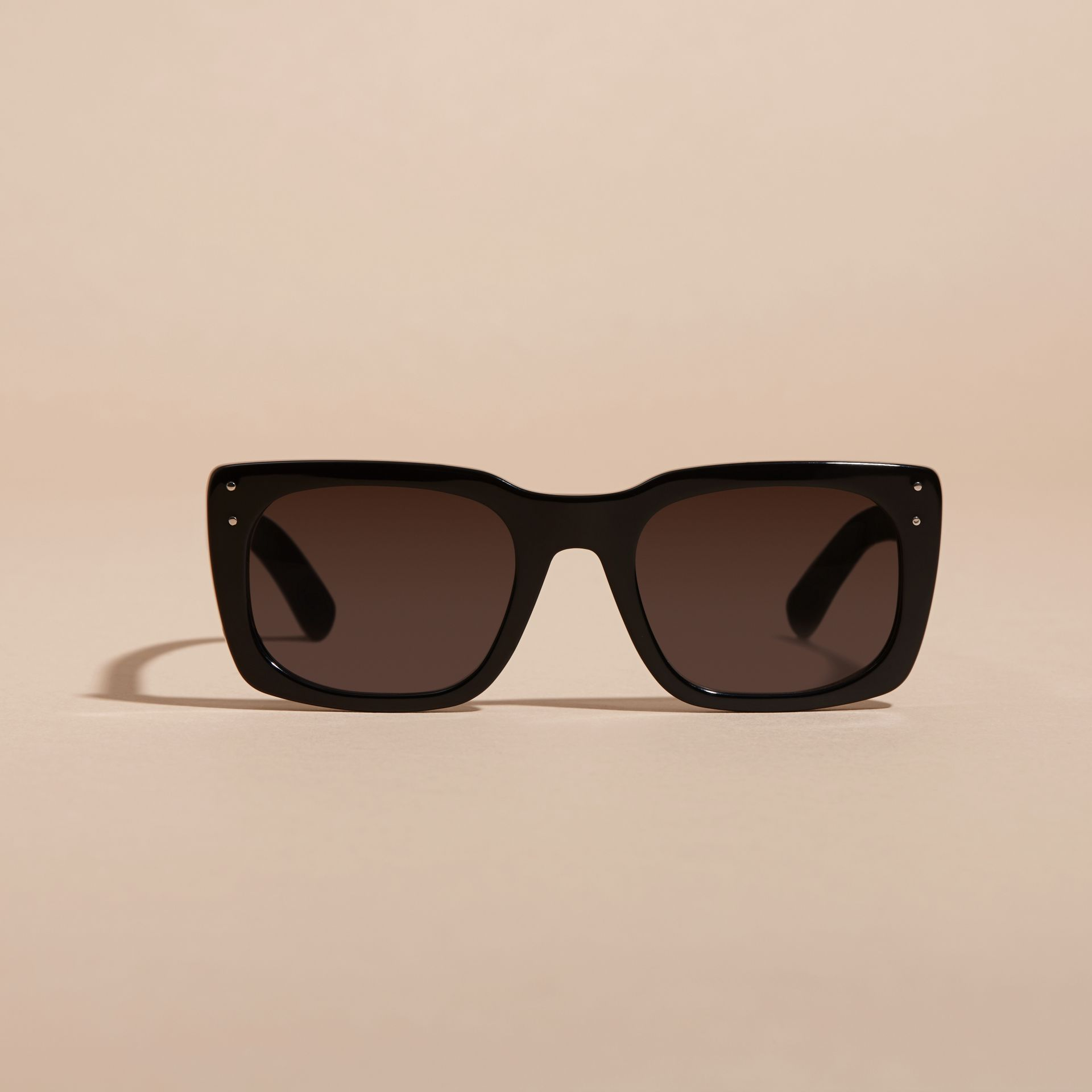 Black Square Frame Sunglasses Black - gallery image 4