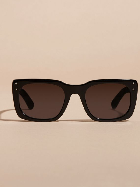 Black Square Frame Sunglasses Black - cell image 3