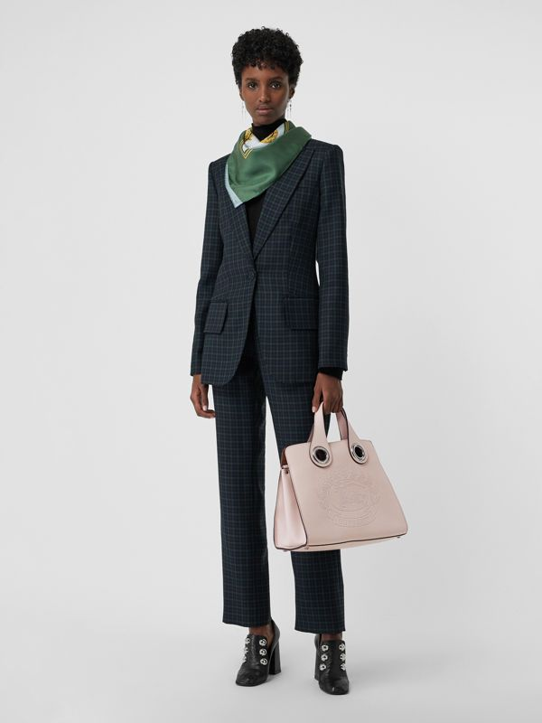 The Leather Crest Grommet Detail Tote in Chalk Pink - Women | Burberry - cell image 2