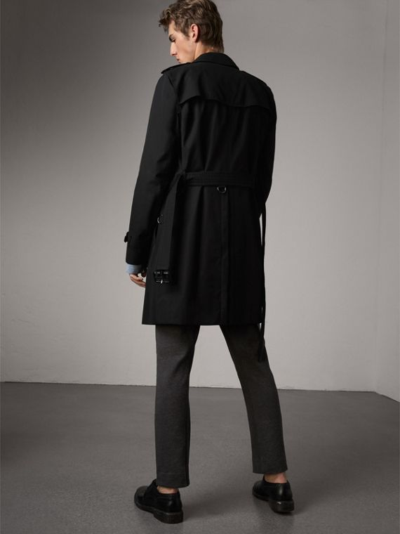 The Kensington – Long Trench Coat in Black - Men | Burberry Singapore - cell image 2