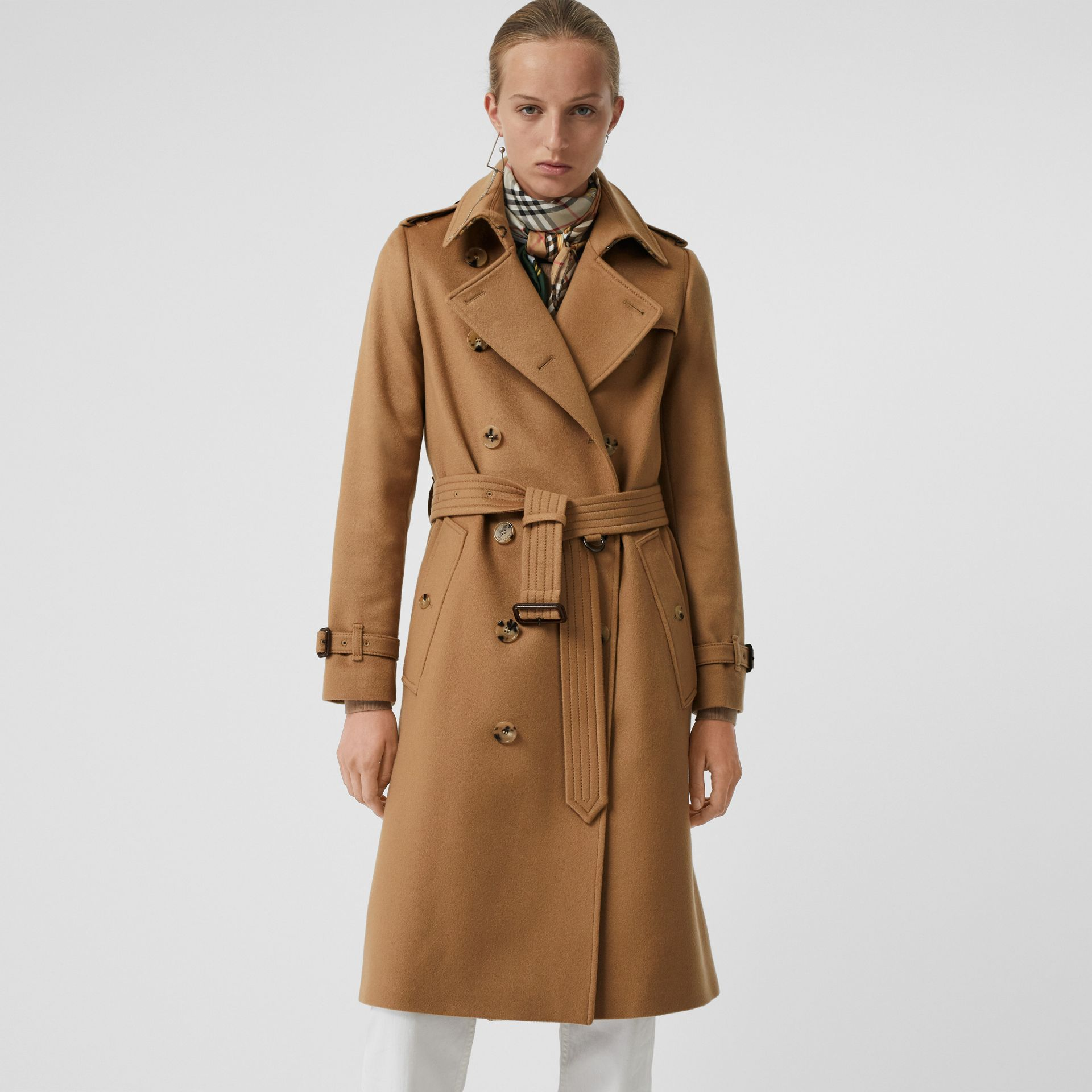 Cashmere Trench Coat in Mid Camel - Women | Burberry - gallery image 5