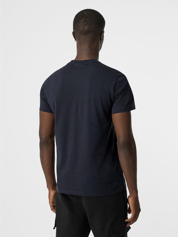 Archive Logo Cotton T-shirt in Navy - Men | Burberry United Kingdom - cell image 2