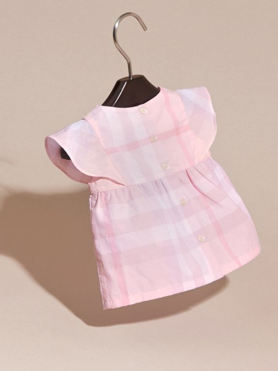 Check Cotton Pin Pleat Top and Bloomers in Ice Pink | Burberry - cell image 3