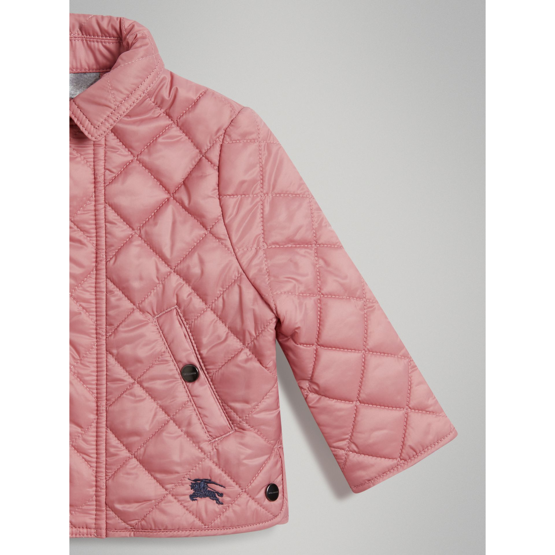 Lightweight Diamond Quilted Jacket in Pale Ash Rose - Children | Burberry Canada - gallery image 4