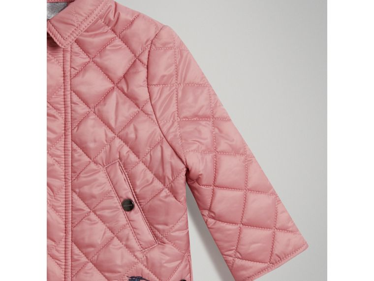 Lightweight Diamond Quilted Jacket in Pale Ash Rose | Burberry United States - cell image 4