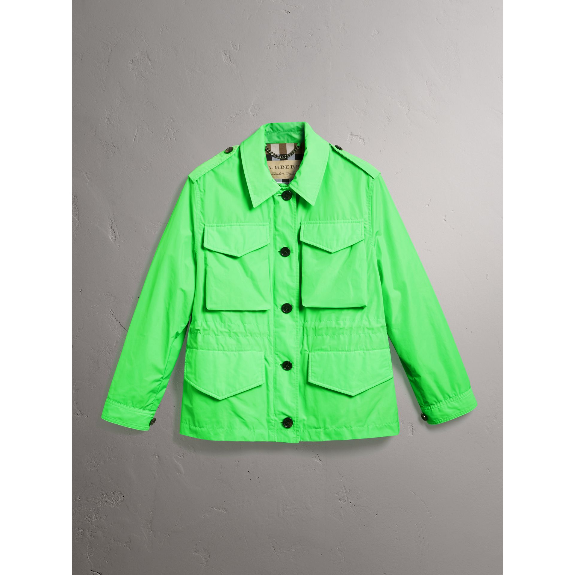 Taffeta Field Jacket in Neon Green - Women | Burberry Australia - gallery image 3