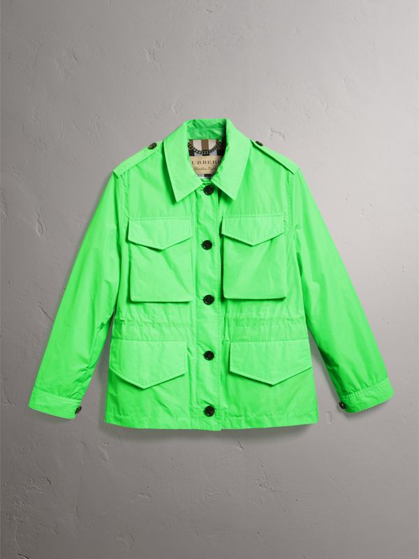 Taffeta Field Jacket in Neon Green | Burberry - cell image 3