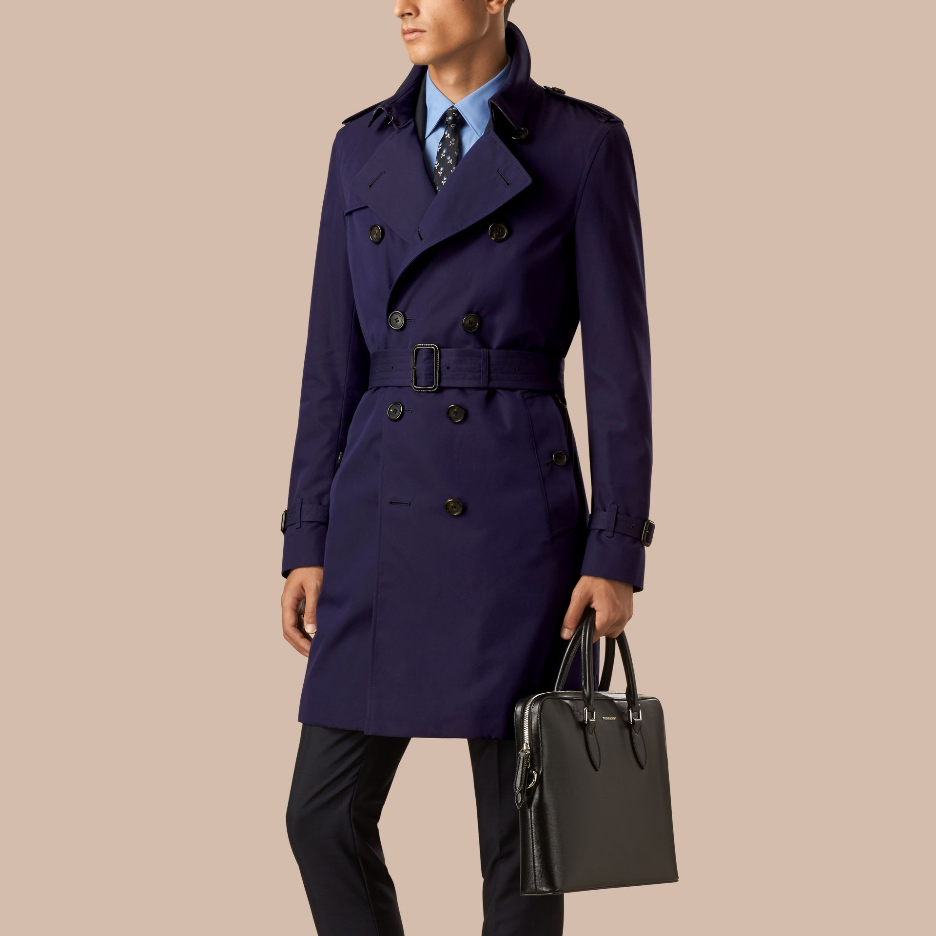 Blueberry The Chelsea – Cotton Gabardine Trench Coat Blueberry - gallery image 1