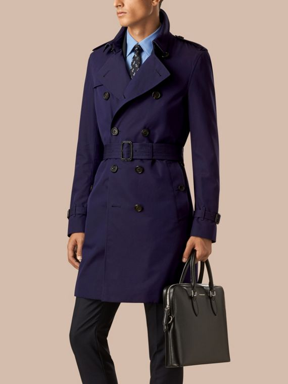 The Chelsea – Cotton Gabardine Trench Coat Blueberry