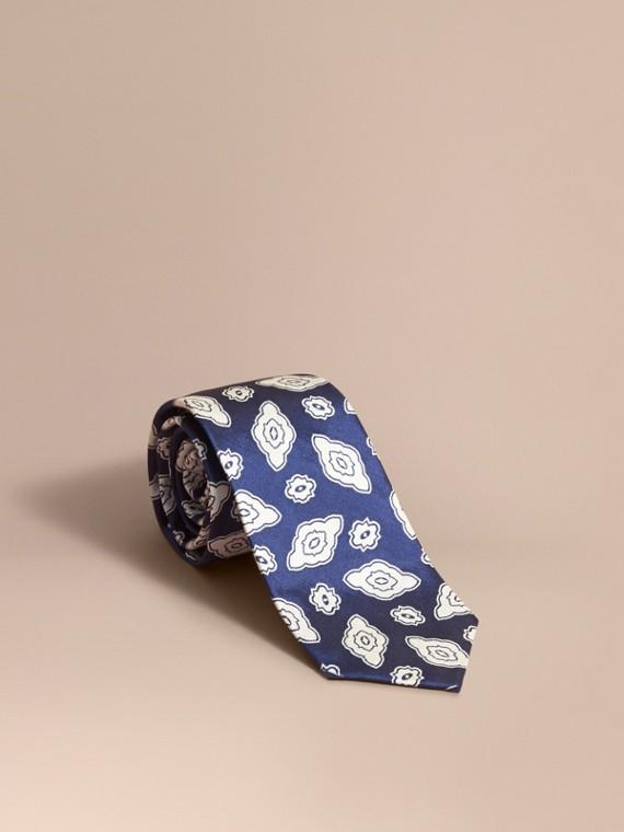 Modern Cut Silk Geometric Jacquard Tie in Brilliant Blue - Men | Burberry