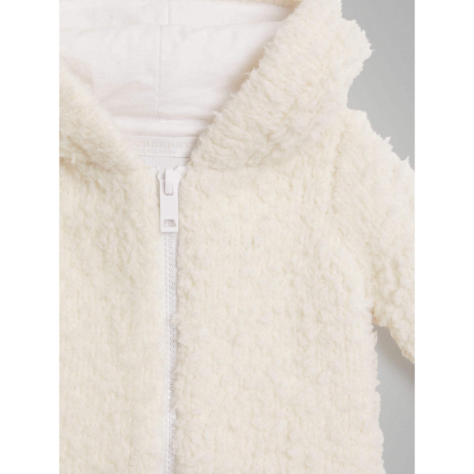 Wool Blend Hooded Top in Ivory - Children | Burberry - gallery image 4
