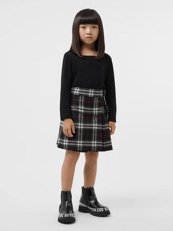 모노그램 모티프 캐시미어 스웨터 (블랙)