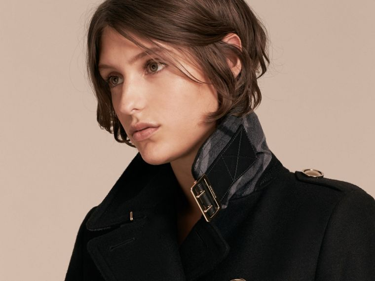 Wool Cashmere Blend Military Coat - cell image 4