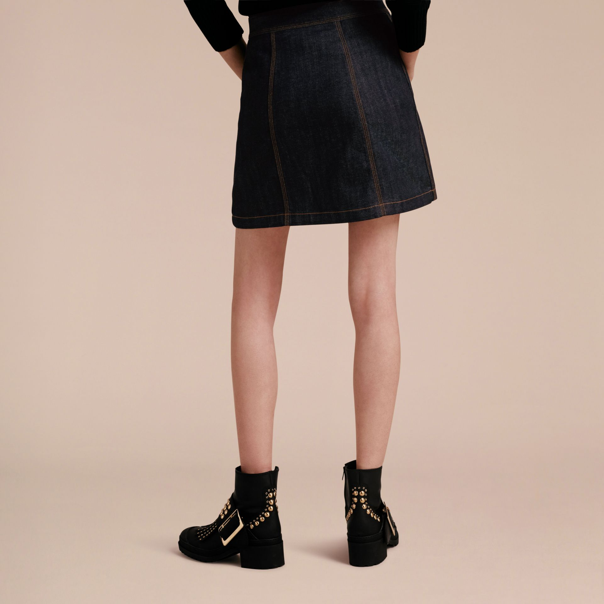 Denim A-line Skirt - gallery image 3