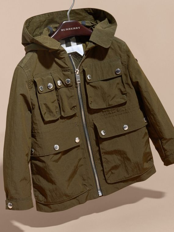Hooded Field Jacket with Oversize Pocket Detail - cell image 2
