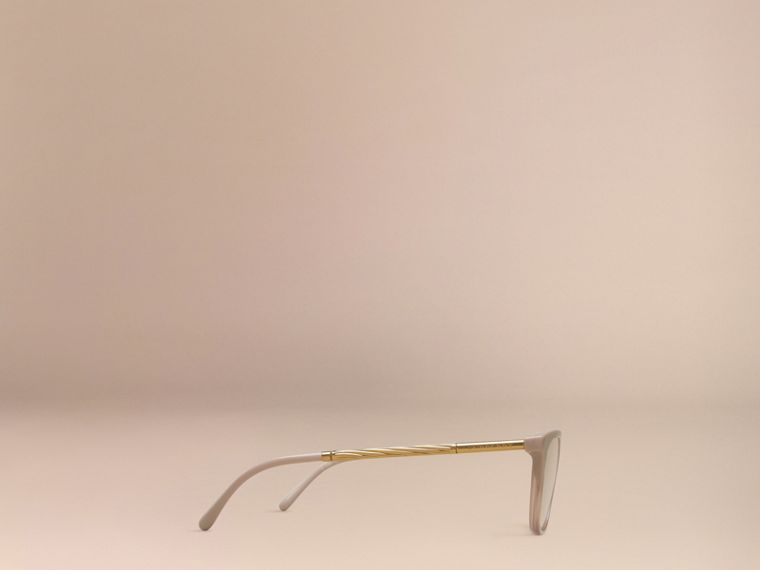 Gabardine Collection Cat-Eye Optical Frames in Honey - cell image 4