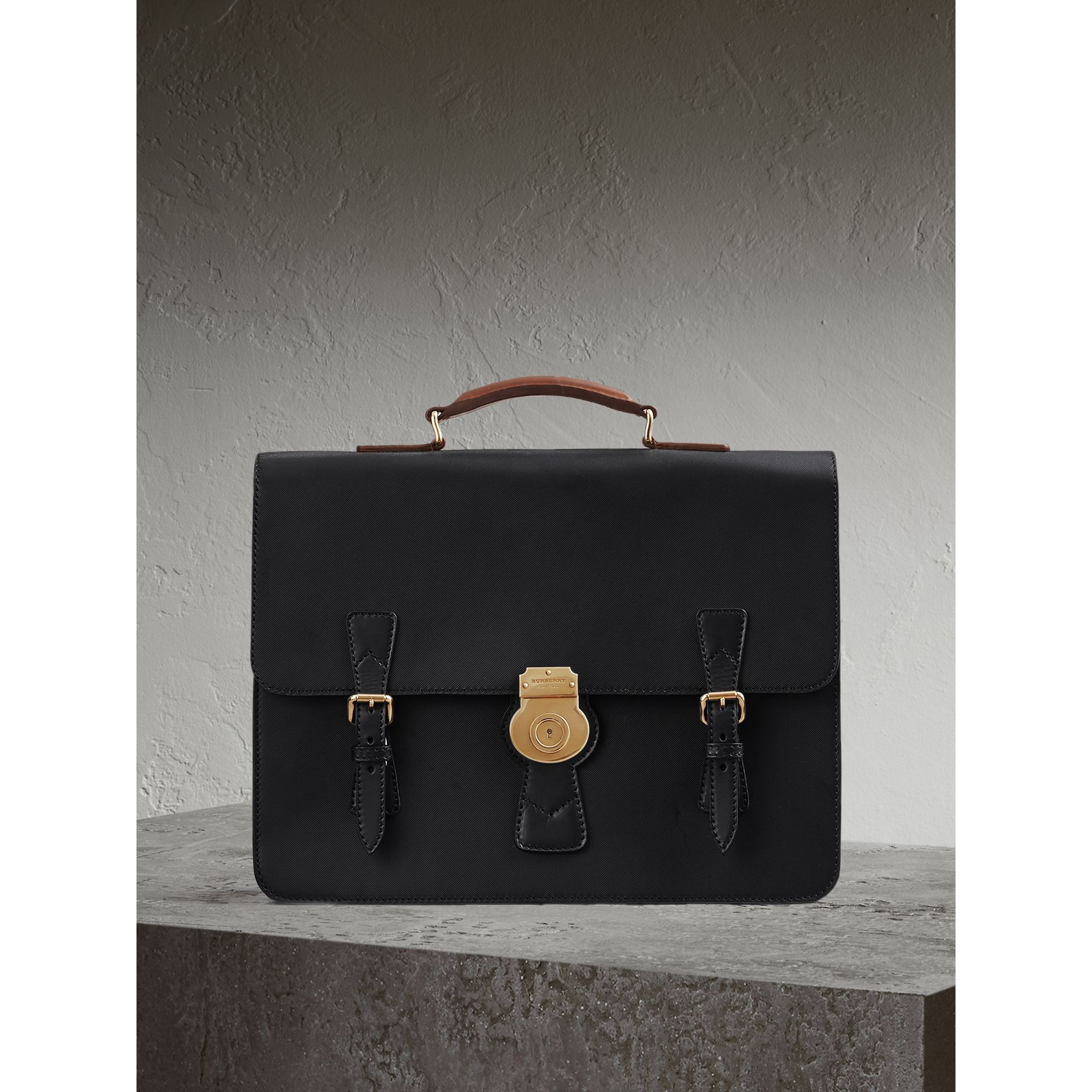 The Medium DK88 Satchel in Black - Men | Burberry United Kingdom - gallery image 1