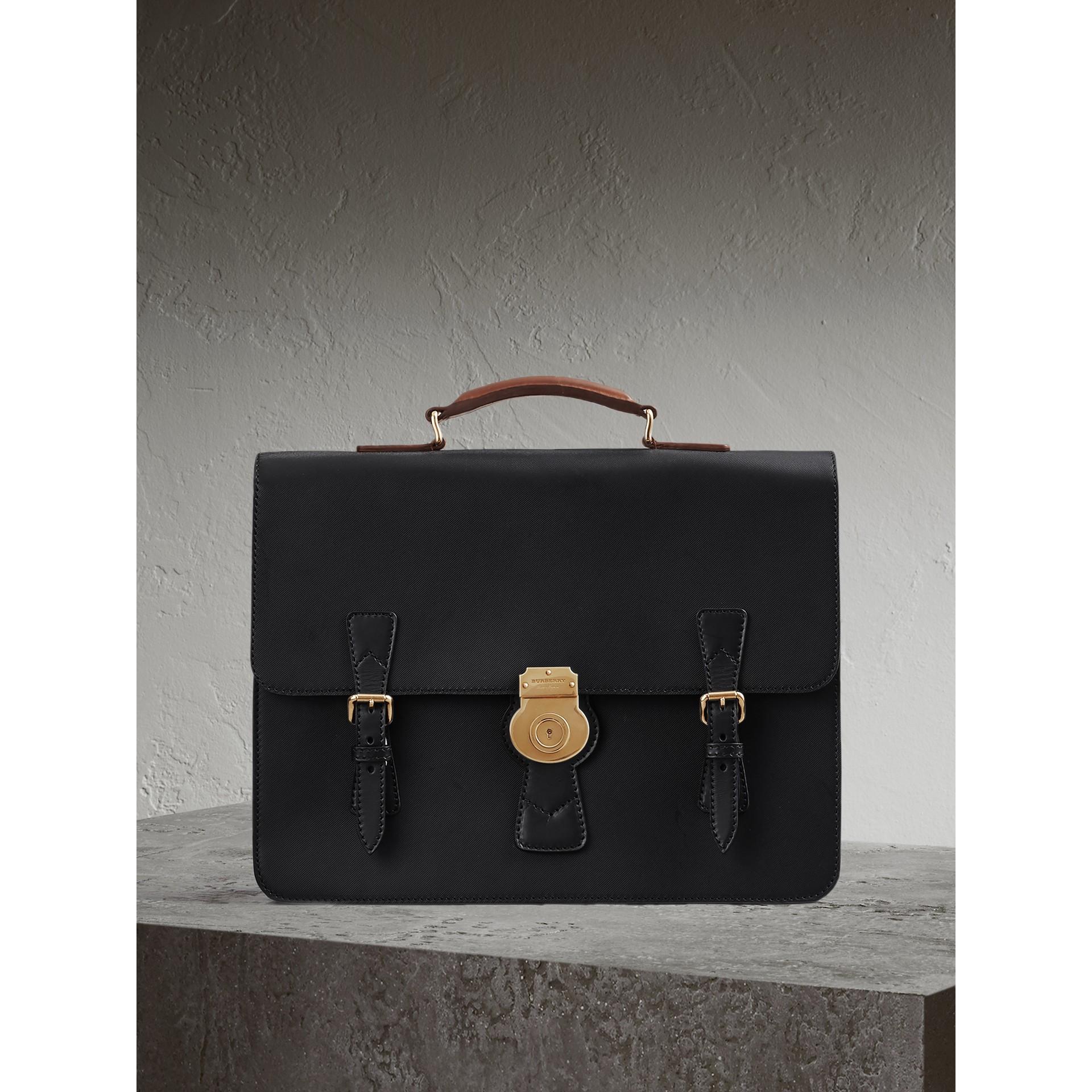Bolsa satchel DK88 - Média (Preto) - Homens | Burberry - galeria de imagens 1