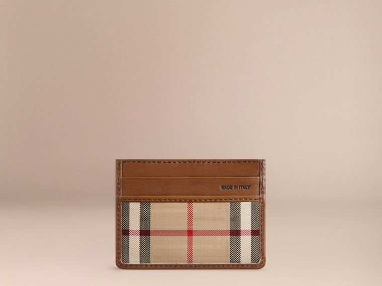 Horseferry Check Card Case in Tan - cell image 2