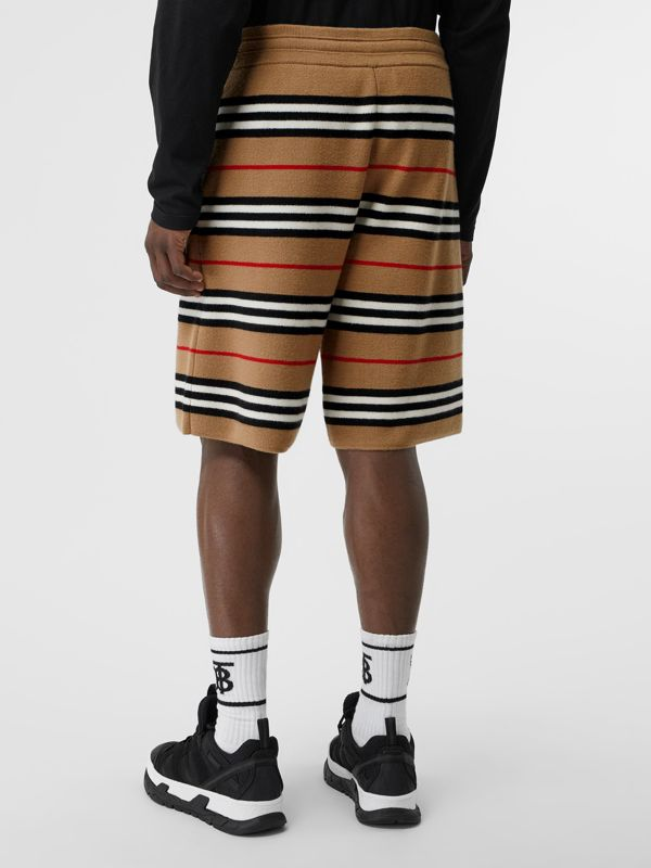 Icon Stripe Merino Wool Drawcord Shorts in Archive Beige - Men | Burberry Singapore - cell image 2