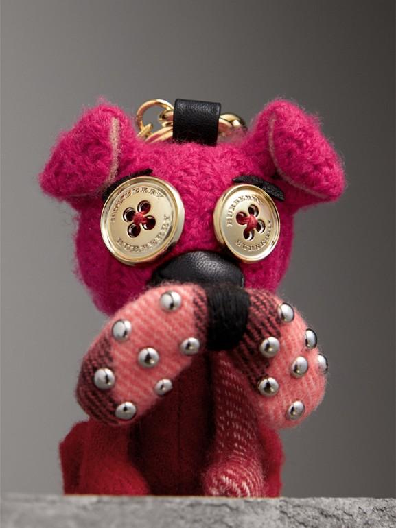Adorno de cashmere Seymour The Bull Dog (Vermelho Paixão) | Burberry - cell image 1